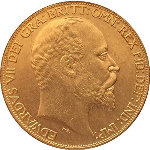 Chaenyu 1902 Britische Münze reines Kupfer vergoldet antike Silberdollar Kunsthandwerk Sammlung Gedenkmünze Dekoration