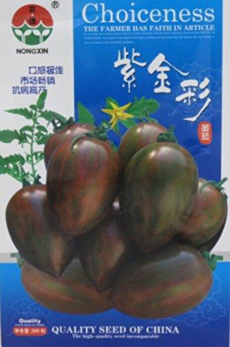 Pinkdose® 2018 Heißer Verkauf Seltene Kaffee Tomaten Bio Bonsai Samen, 1 Originalverpackung, 300 Samen/Pack, süße Saftige Tomate Indoor Pflanzen # NF624