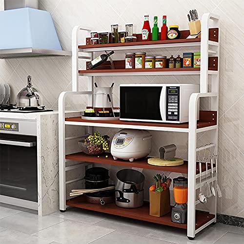 Estante de cocina Rack de horno de microondas de marco de acero crudo de 40 mm,...