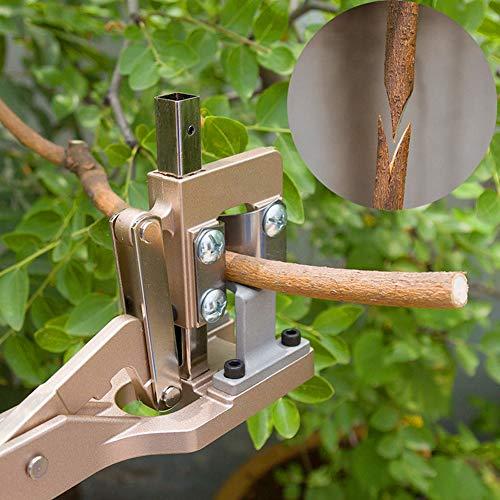 Kadimendium Herramienta de Corte de injerto de aleación de Aluminio Tijera de poda Ahorro de Mano de Obra para árboles frutales