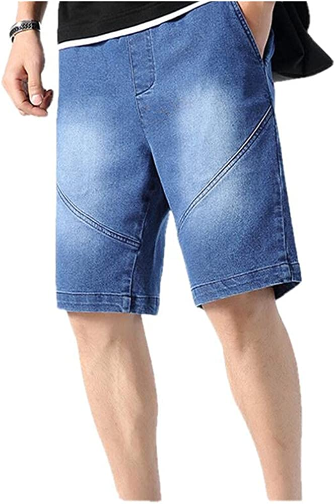 NP Summer Black Short Jeans Men Solid Cotton Stretched Denim Breeches Shorts Male