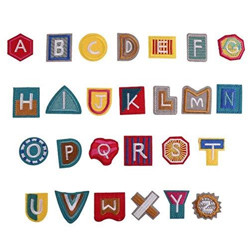 Parche Velcro Parche De Borla Con Letras De Color De 3Uds Aplique Bordado De Alfabeto Para Camiseta Accesorios Para Coser Ropa Parches Para Decoración De Ropa-S 3Pcs