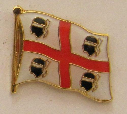 Pin Anstecker Flagge Fahne Sardinien (alt) Italien Flaggenpin Badge Button Flaggen Clip Anstecknadel