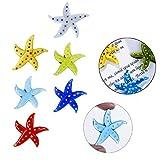 Hand Blown Glass Starfish Figurine Art Glass Miniature Sea Animals Collection,Set of 6
