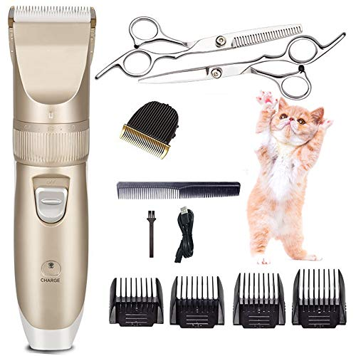 LIUDOU Dog Grooming Clippers for Pets Cat Hair Trimmer Kit - Best Cordless Dog Clippers Low Noise Professional Hair Clipper Set