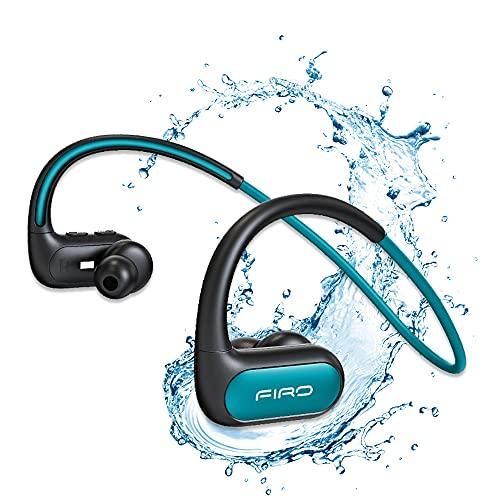 Auriculares inalámbricos, banda para el cuello con Bluetooth IPX8, resistentes al agua, con cancelación de ruido, auriculares deportivos para correr, ciclismo, gimnasio, buceo y agua (azul)
