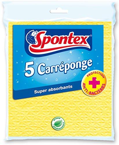 SPONTEX - confezioni da 5 spugne piatte colorate