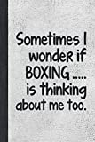 I Wonder If Boxing Is Thinking: Best Funny Gift For Boxers, Coach, Trainer, Student - Woman Girl Man Guy Journal - Stone Gray Cover 6'x9' Notebook