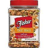 Fisher Snack Tex Mex Trail Mix, 30 oz, Hot & Spicy Peanuts, Almonds, Salsa Corn Sticks, Se...