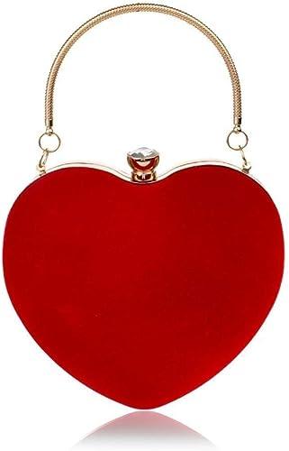 GETKO WITH DEVICE Velvet Fabric Women Clutch Handbag Heart Shape Purse Ladies Party Bridal Wedding Bags Designer Even...