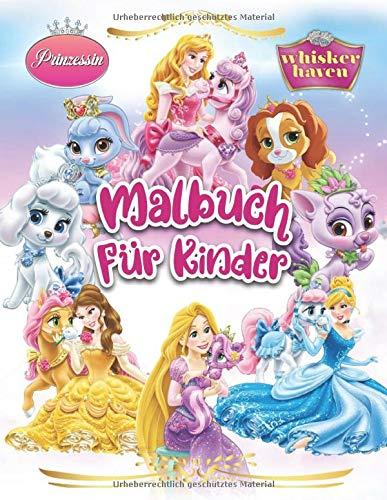 Prinzessin Whisker Haven Malbuch Für Kinder: Besondere Malseiten mit Ihren Lieblings - Disney Princess Palace Pets