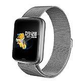 Lintelek Montre Connectée Intelligente, Smartwatch Moniteur de Cardio, Pression Artérielle, Sommeil, Tracker d'Activité Podomètre pour Homme Femme Compatible iOS Android Samsung Xiaomi Huawei