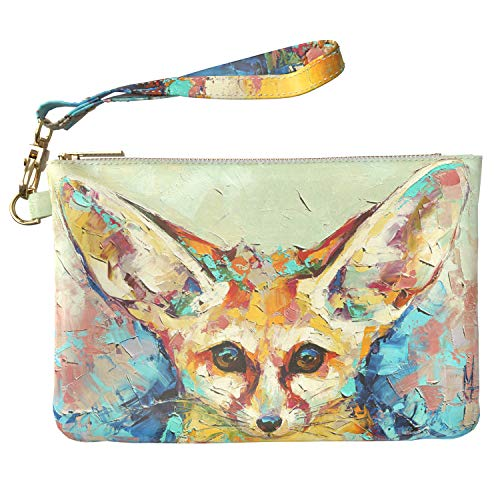 """DISMENTIONS: 9.5"""" W x 6"""" H (24 x 16cm) HIGH QUALITY MATERIALS: Our hand cosmetic bag is made of luxurious high quality PU leather interior and soft quilted inside. No animals were harmed in the making of this item! DETAILS: Each pouch with a gold zip..."""