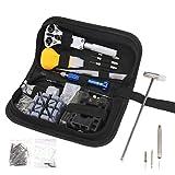 Kit de herramientas de reparación de relojes, 144 piezas, set de herramientas de reparación profesional para relojeros y caja de transporte