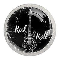 引き出しハンドルは丸いクリスタルガラスを引っ張る キャビネットノブキッチンキャビネットハンドル,ロックンロールギターベースミュージックヴィンテージ