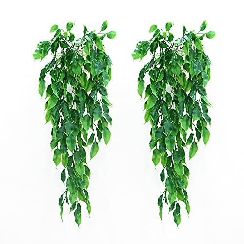 YPLonon 2 Piezas Artificial Hiedra Planta Colgante Artificiales Decorativas Plantas Colgantes 80cm...