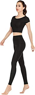 Xinwcang Leggins Sportivi da Donna,Classics Ladies Tech Mesh a Vita Alta Pantaloni Yoga Fitness Palestra Allenamento