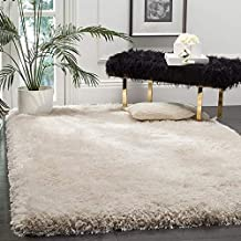 Ali Carpet Super Modern Shag Area Smooth Rugs Fluffy Anti-Skid Shaggy Carpet for Bedroom and Living Room 5 X 7 Feet Size Ivory Color