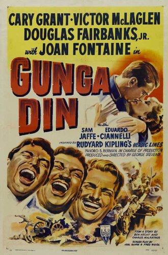 Gunga Din POSTER Movie (1939) Style D 27 x 40 Inches - 69cm x 102cm (Cary Grant)(Victor McLaglen)(Douglas Fairbanks Jr.)(Sam Jaffe)(Eduardo Ciannelli)(Montagu Love)(Joan Fontaine)