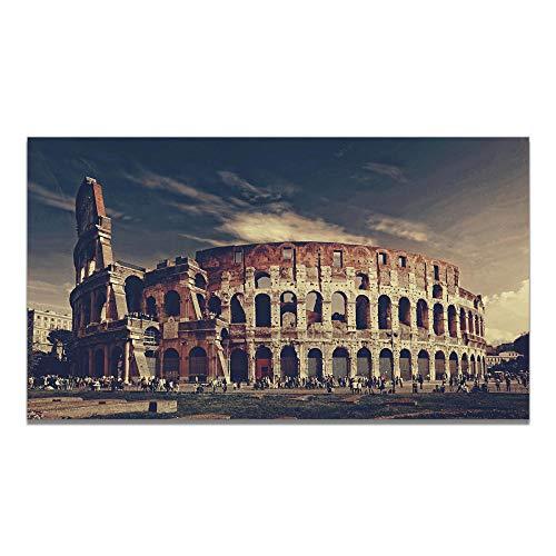 WKHRD Estilo Europeo El Coliseo Romano Cuadro de Arquitectura Póster Impresión en Lienzo Pintura Arte de la Pared Sala de Estar Decoración del hogar- 50x90cm (Sin Marco)