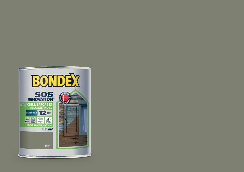 Sos Renovation Volets Bondex Taupe Satin 1l Amazon Fr Bricolage