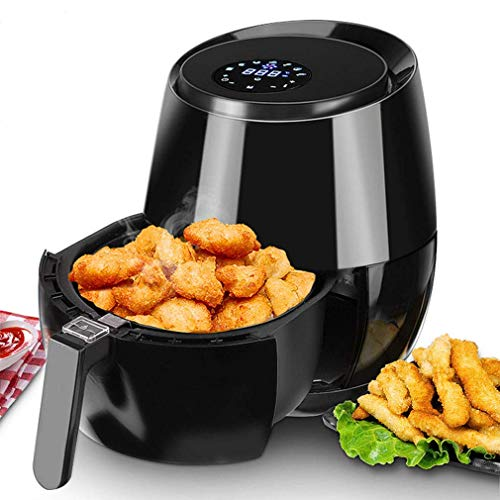 XYSQWZ Electric Deep Fryer Air Fryer with Digital Touch Screen Timer Temperature Control, Healthy Oil-Free Airfryer BPA-Free, Non Stick Fry Basket, 5 qt