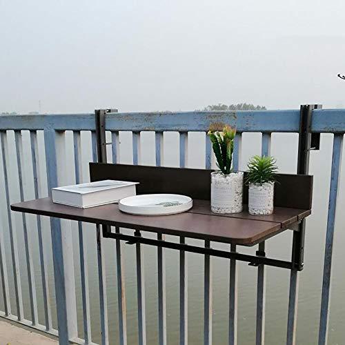 Tavolo pieghevole parete Tavolo da Esterno per Balcone a Parete, Tavolo da Giardino Pieghevole da Giardino, Tavolo da Ringhiera da Terrazza, Adatto per Ristoranti con Balconi (Size : 80x37cm)