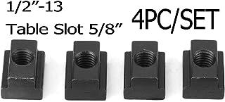 4PC Set T-Slot Nut Black Oxide Finish 1/2-13 Threads Table Slot 5/8