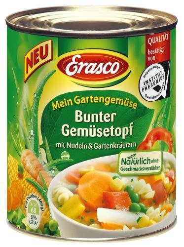 Erasco Gartengemüse Bunter Gemüsetopf, 6er Pack (6 x 800 g Dose)
