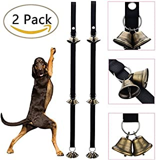 Avolare Dog Doorbells for Dog with Extra Large Loud, Providing Potty Training and Housetraining, Training Puppy The Easy Way, Adjustable and 6 Brass Bell.