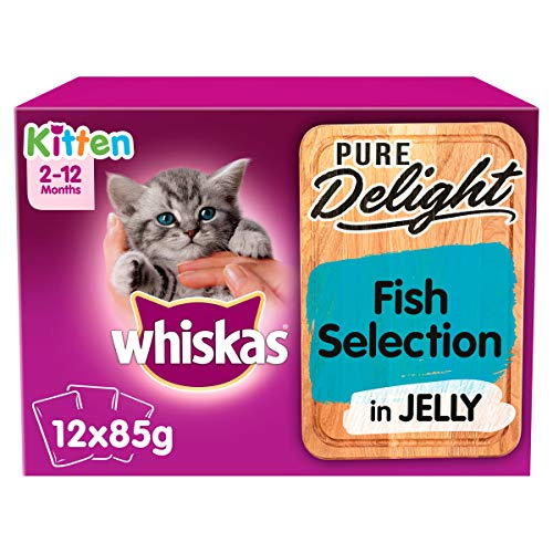 Whiskas Pure Delight Fish Selection in Jelly Kitten 2-12 Months Wet Cat...