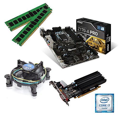 one Aufrüstkit · Intel Core i7-7700, 4 x 3.60GHz · 2 GB AMD Radeon R5 230 · 16 GB DDR4 RAM · MSI Z270-A Pro · Kabylake · Aufrüstset · Mainboard Bundle · PC Tuning Kit