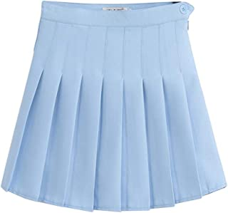 BabyO Girls Lightweight 4 Tiered Denim Below the Knee Skirt Large, Light Blue