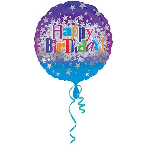 Amscan Happy Birthday Bright Stars Standard HX Folie Ballons