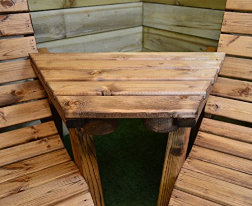 Samuel ALEXANDER Hand Made Chunky Rustic Wooden Garden Furniture Angled Tray