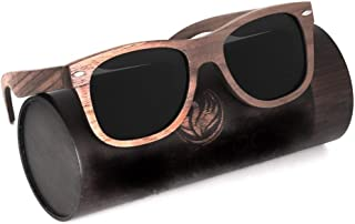 Phénix ECO Sunglasses for Men and Women Walnut Wood Aviator Design with Stainless Steel Hinges - Recyclable and Eco-Friendly Authentic gifts for women mens gifts