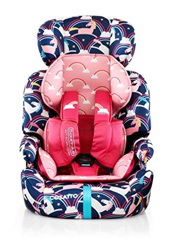Cosatto Zoomi Car Seat - Group 1 2 3, 9-36 kg, 9 Months-12 years, Side Impact Protection, Forward Facing (Magic Unicorns)