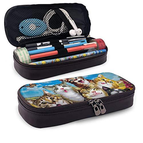Mini estuche escolar para lápices de oficina con cremallera, para niñas, niños, hombres, mujeres, accesorios de playa, baño, piscina, toalla 1