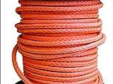 YING-pinghu Cabrestantes de Remolque de Cuerda de cabrestante 22 mm x 50 Metros de Cuerda sintética Naranja Cuerda de Remolque para ATV/UTV / 4x4 / Off Road Accesorios Cuerdas de Remolque