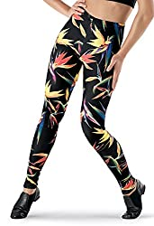 See You Monday Leggings Ankle Length Exotic Floral Print
