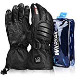 Heated Gloves for Men&Women, Electric Heated Gloves for Motorcycle/Hunting/Skiing, Heated Motorcycle Gloves