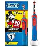 Oral-B Stages Power Kids - Cepillo Eléctrico Recargable para Niños con Personajes de Mickey de Disney, 1 Mango, Cabezal de Recambio x 1