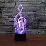 XKALXO 3D Night Light Usb16 Color Led Light Control Táctil Remoto Notación Musical Night Led Touch Control 16 Colores Decoraciones Intermitentes Inicio