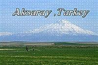 大人のためのジグソーパズルアクサライ山トルコパズル1000ピース木製旅行お土産ギフト