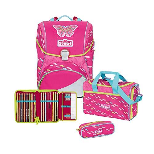 Scout Alpha Schulrucksack Set 4 TLG. Pink Butterfly