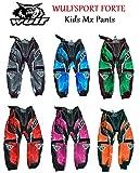 Pantalones de motocross para niños, Wulfsport Forte 2020 Off Road Mx Ropa Pit Quad Bike Motocicleta BMX ATV Dirt Bike Pantalones