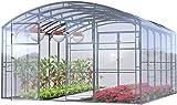 Invernadero Jardín Ruby Pro 4x4 Metros 16 M² Policarbonato Transparente 4mm, Marco Acero, Varios Modelos y Tamaños, Ideal Huerto Plantas y Cultivos