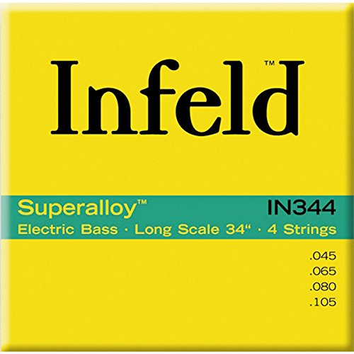 Thomastik 682854 Infeld Saiten für E-Bass Superalloy Round Wound Long Scale, Satz IN 344 4-string long Scale 34 Zoll
