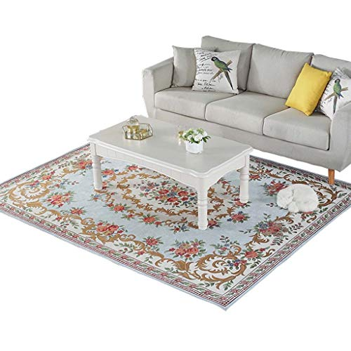 Read About CarPet Living Room Non-Slip Cleaning Soft Home Decoration (Color : Blue, Size : 120×180c...