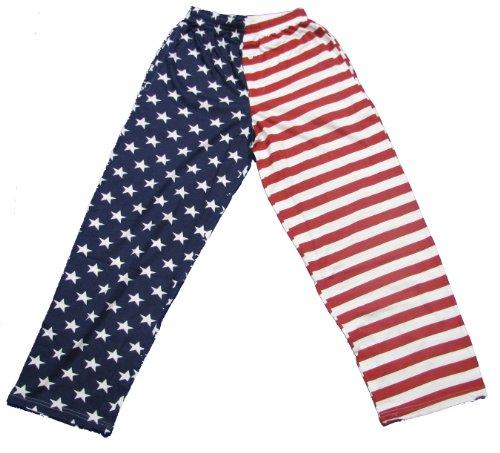 Fun Boxers Mens Americana Fun Prints Pajama & Lounge Pants, Americana 1, Small
